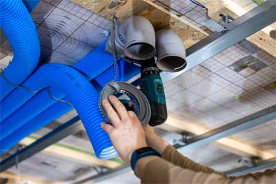Installing a ventilation within the center of the house