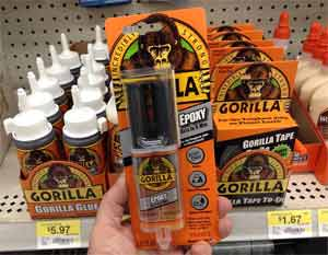 What are the steps to open the Gorilla Glue